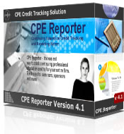 Continuing Professional Education CPE credit tracking, CPE credit compliance checking and CPE credit reporting solution - the easy way to track CPE credit and CPE seminar information for hundreds of professionals.